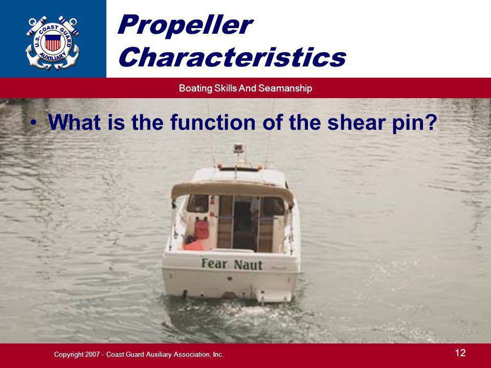 Propeller Characteristics