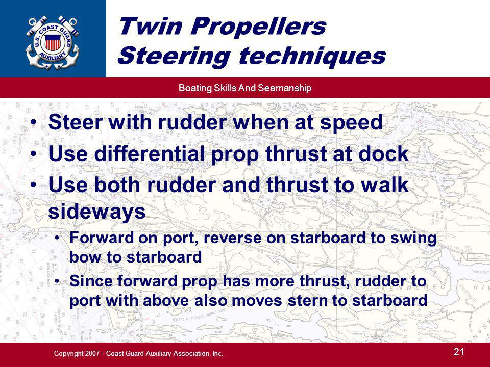 Twin Propellers Steering techniques