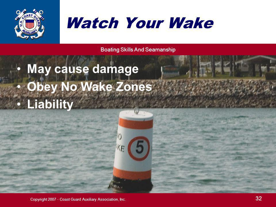 Copyright 2007 - Coast Guard Auxiliary Association, Inc.