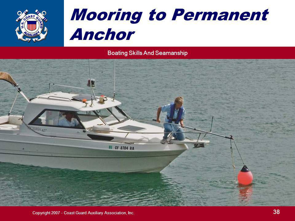 Mooring to Permanent Anchor