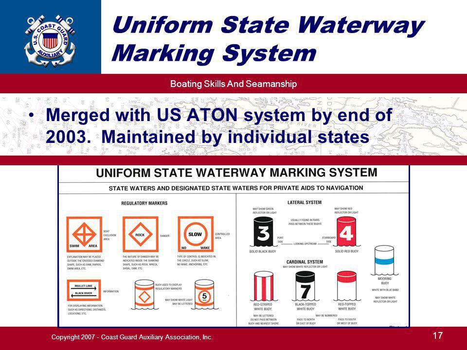 Uniform State Waterway Marking System