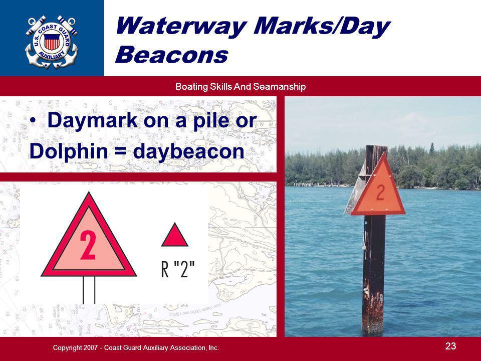 Waterway Marks/Day Beacons