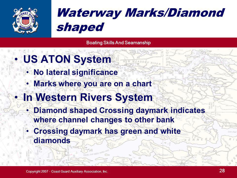 Waterway Marks/Diamond shaped