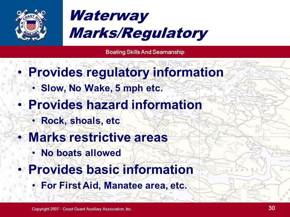 Waterway Marks/Regulatory