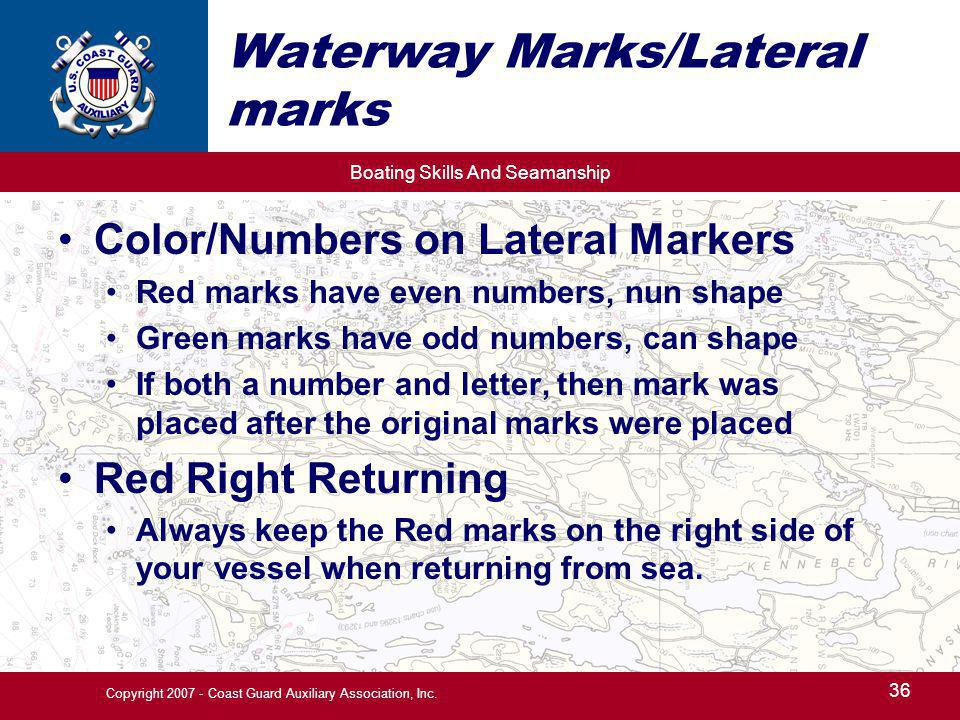 Waterway Marks/Lateral marks