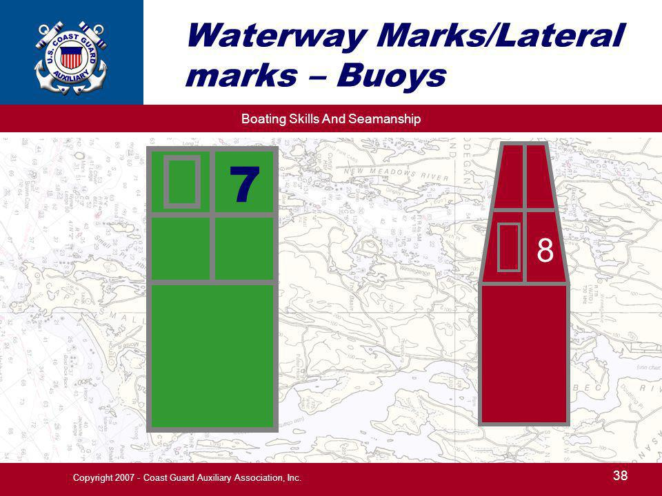 Waterway Marks/Lateral marks – Buoys