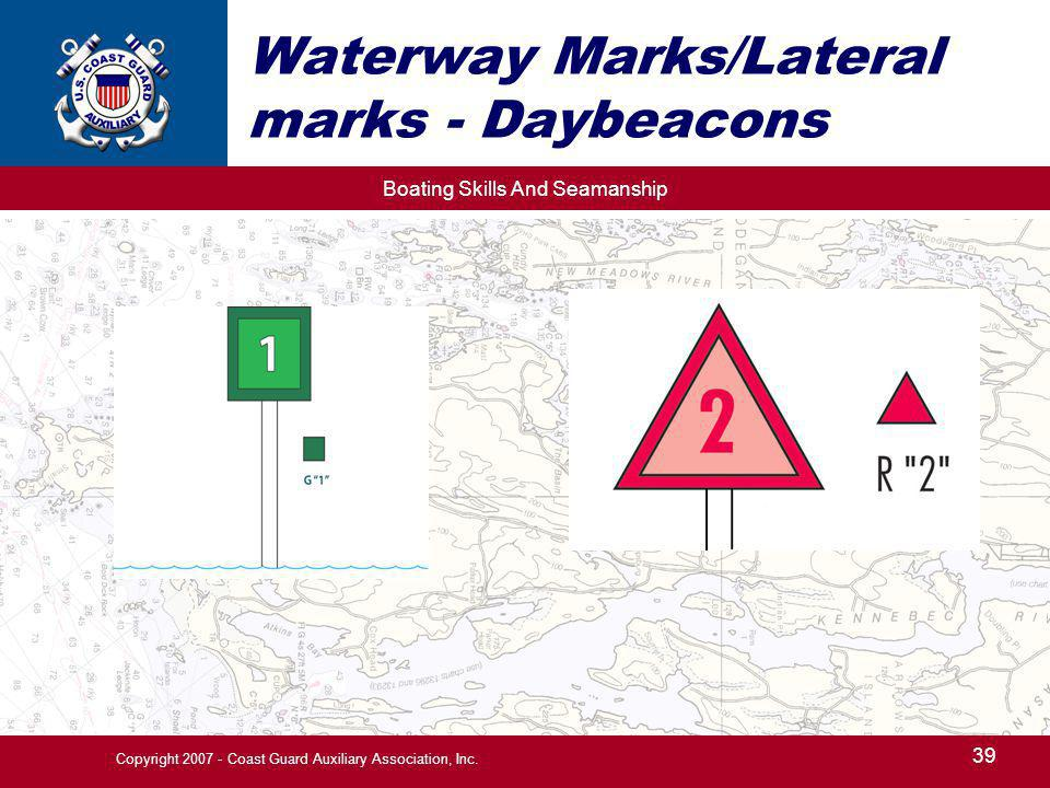 Waterway Marks/Lateral marks - Daybeacons