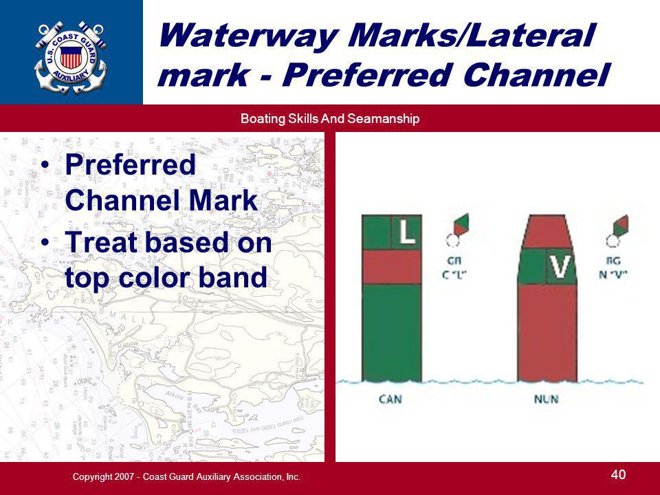 Waterway Marks/Lateral mark - Preferred Channel
