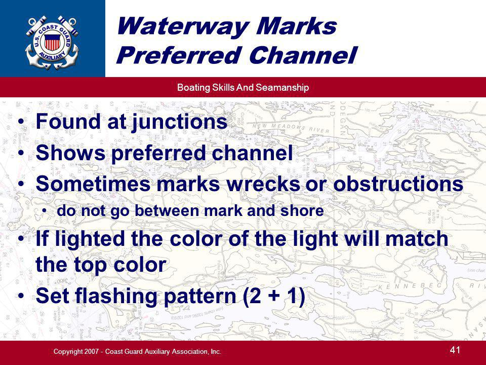 Waterway Marks Preferred Channel