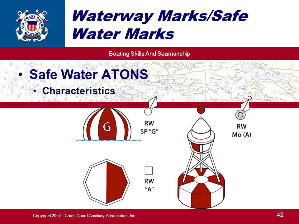 Waterway Marks/Safe Water Marks