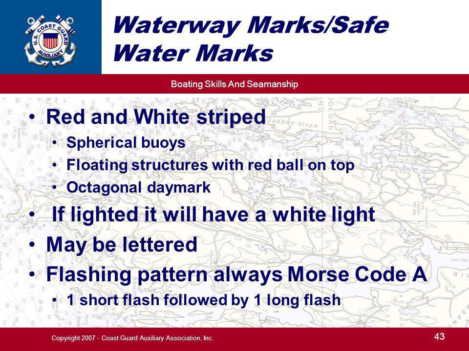 Waterway Marks/Safe Water Marks