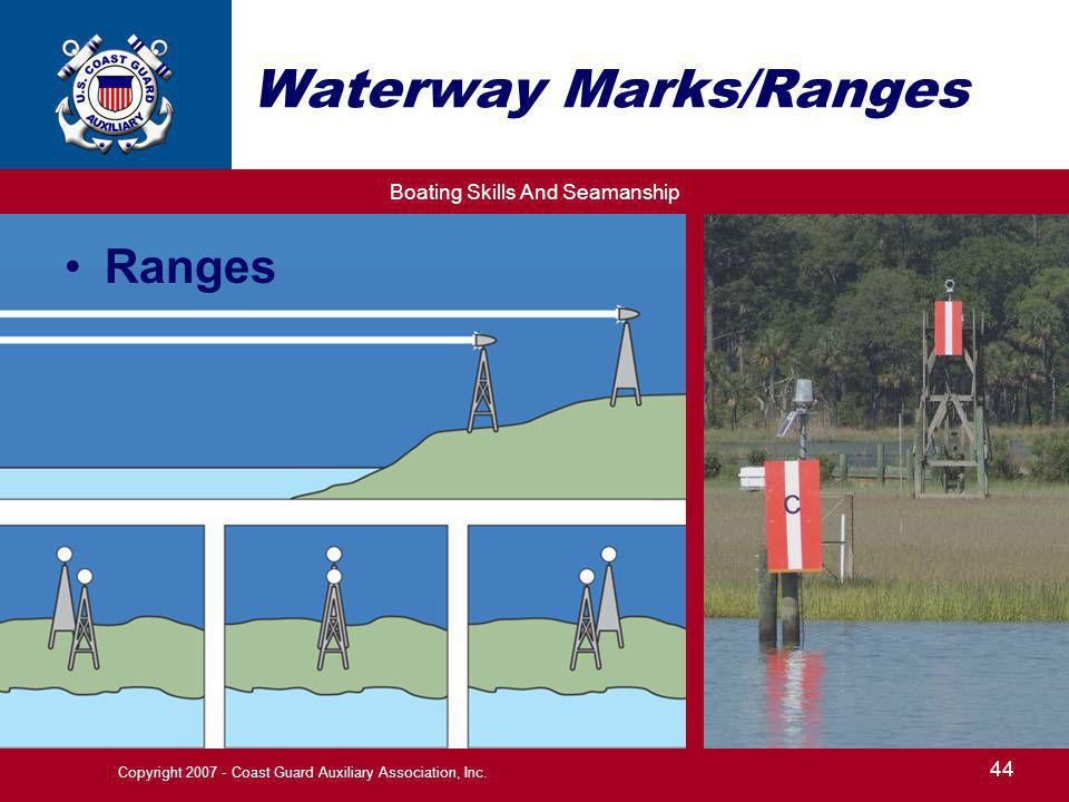 Waterway Marks/Ranges