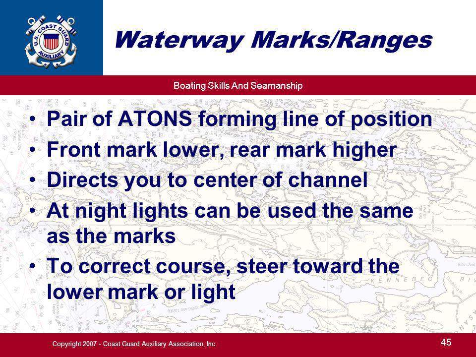 Waterway Marks/Ranges