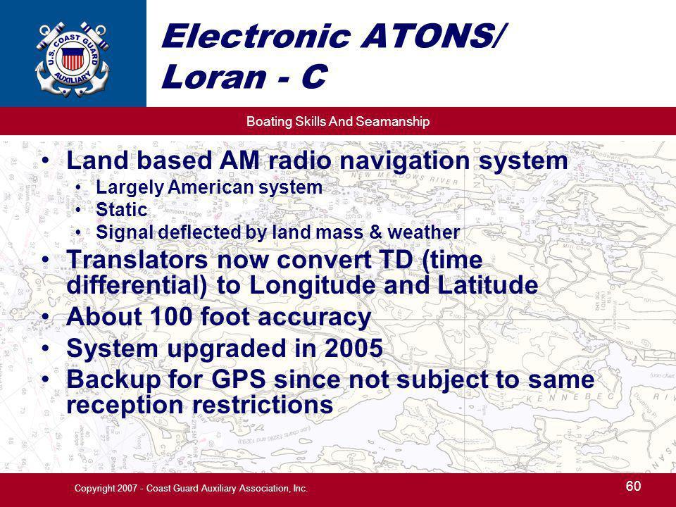Electronic ATONS/ Loran - C