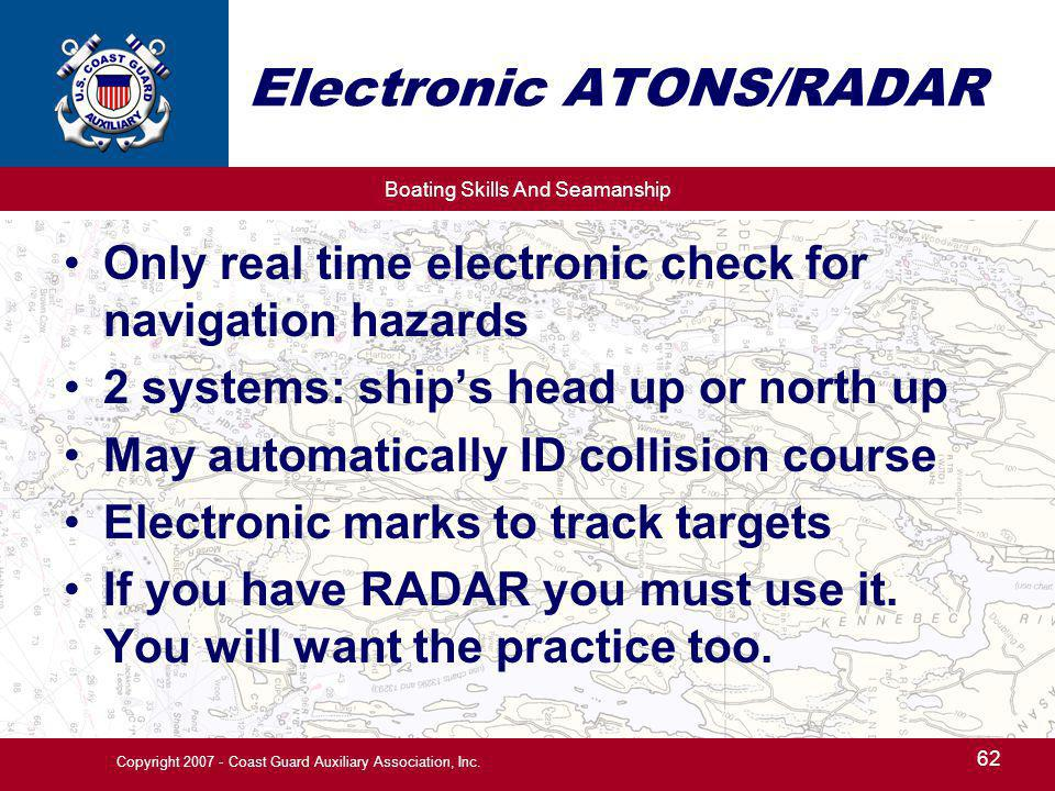 Electronic ATONS/RADAR