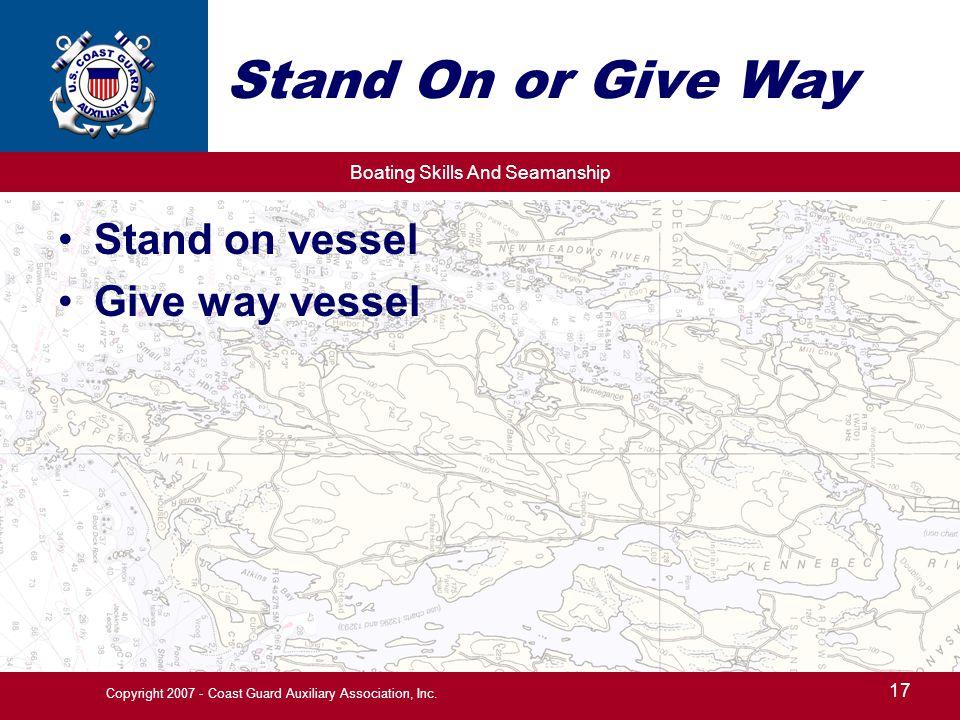 Copyright 2007 - Coast Guard Auxiliary Association, Inc.