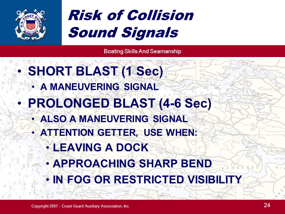 Risk of Collision Sound Signals