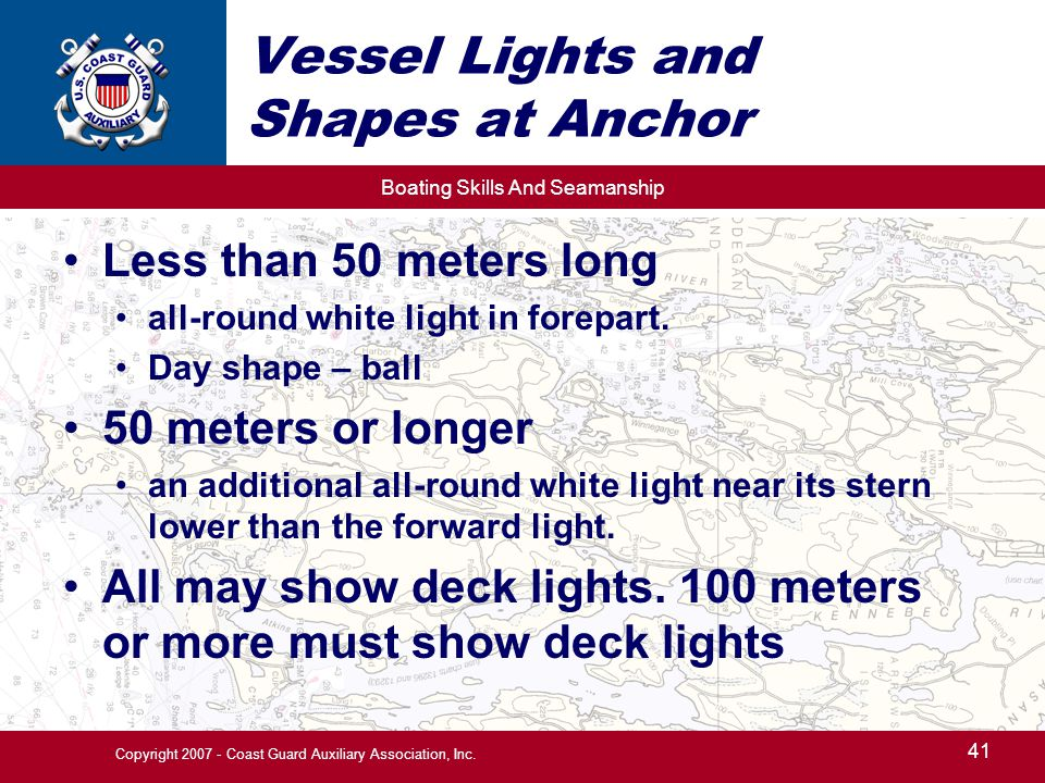 Vessel Lights and Shapes at Anchor