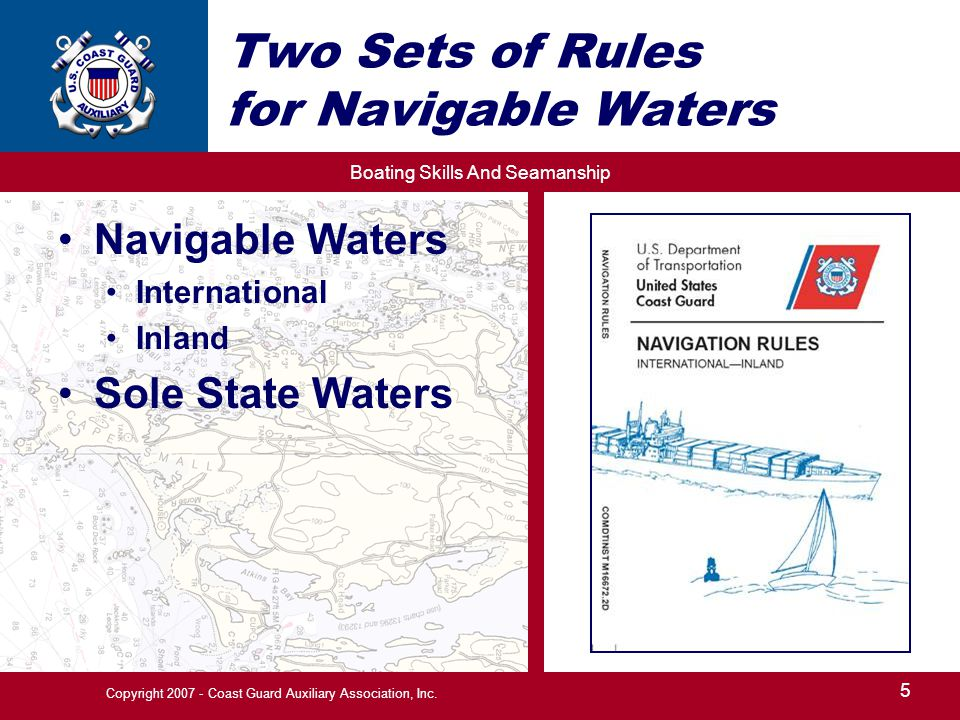 Two Sets of Rules for Navigable Waters