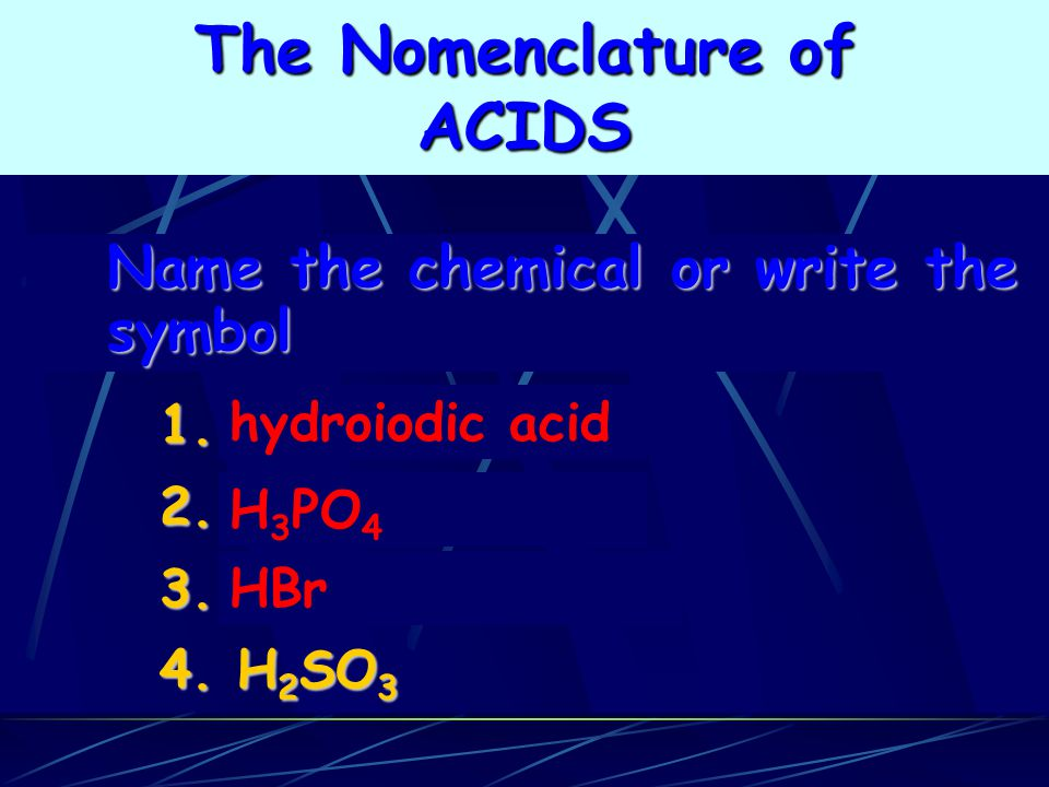The Nomenclature of ACIDS