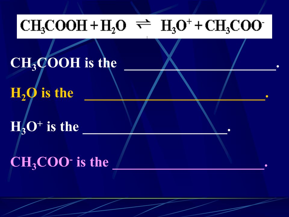 CH3COOH is the _____________________.