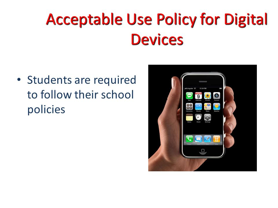 Acceptable Use Policy for Digital Devices