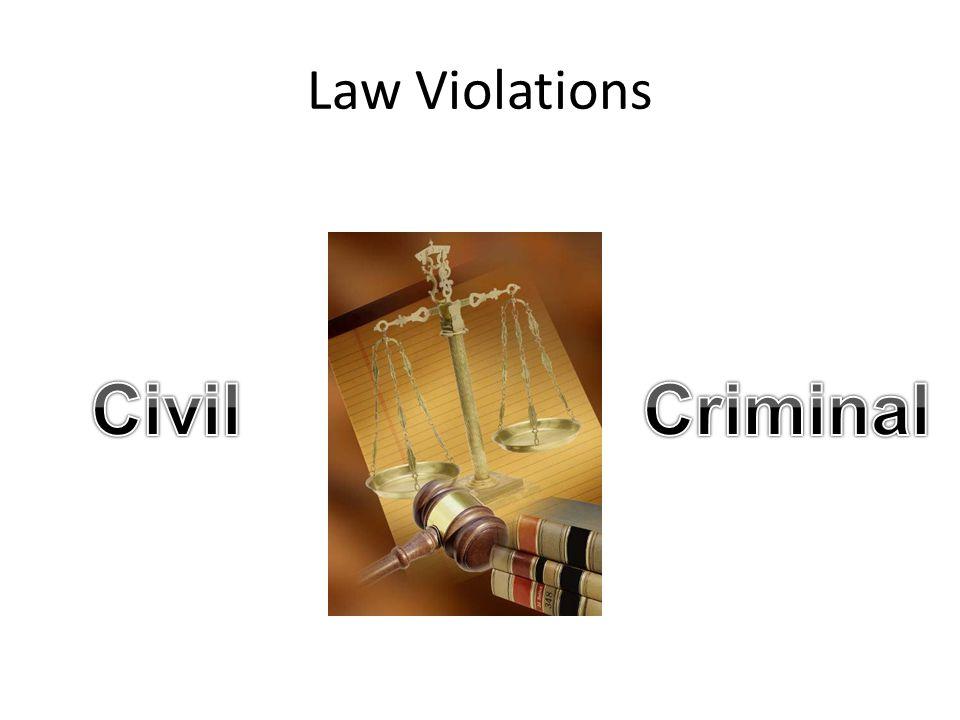Civil Criminal Law Violations