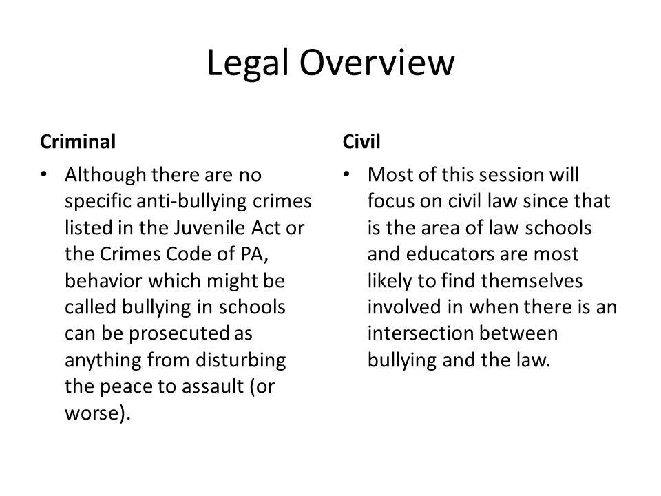 Legal Overview Criminal Civil