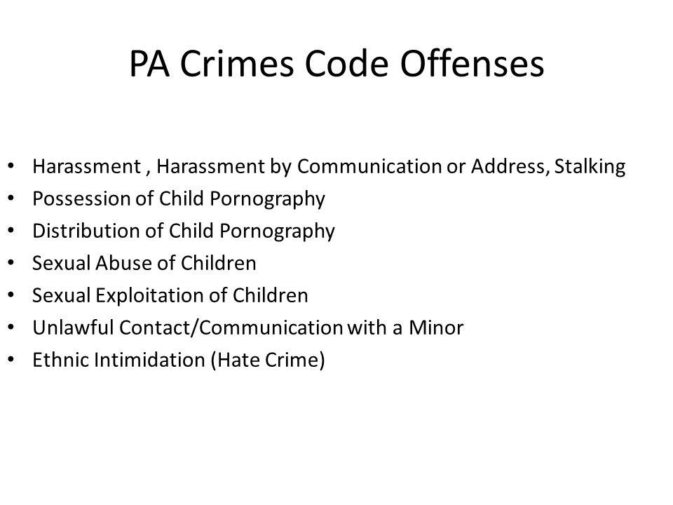 PA Crimes Code Offenses