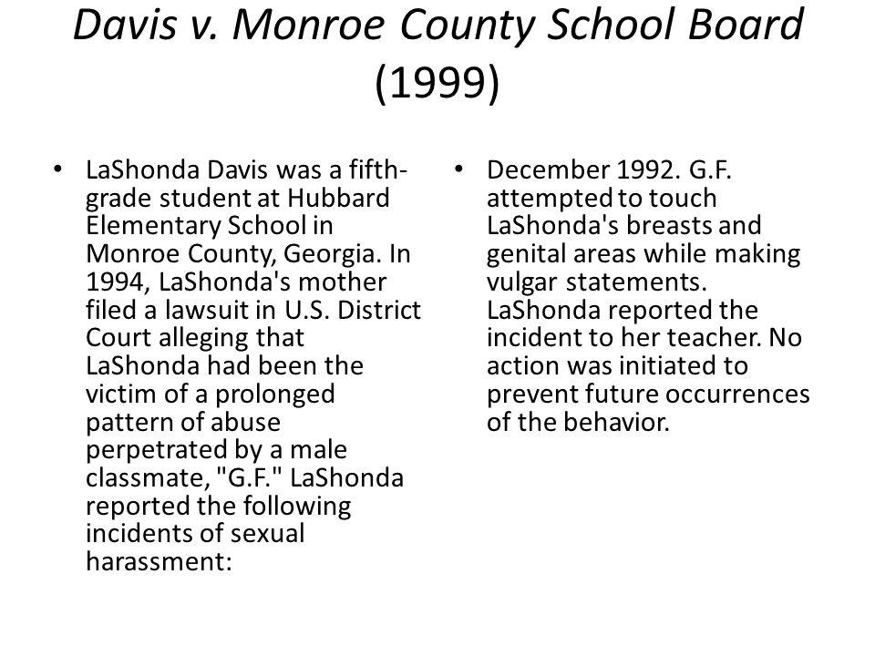 Davis v. Monroe County School Board (1999)