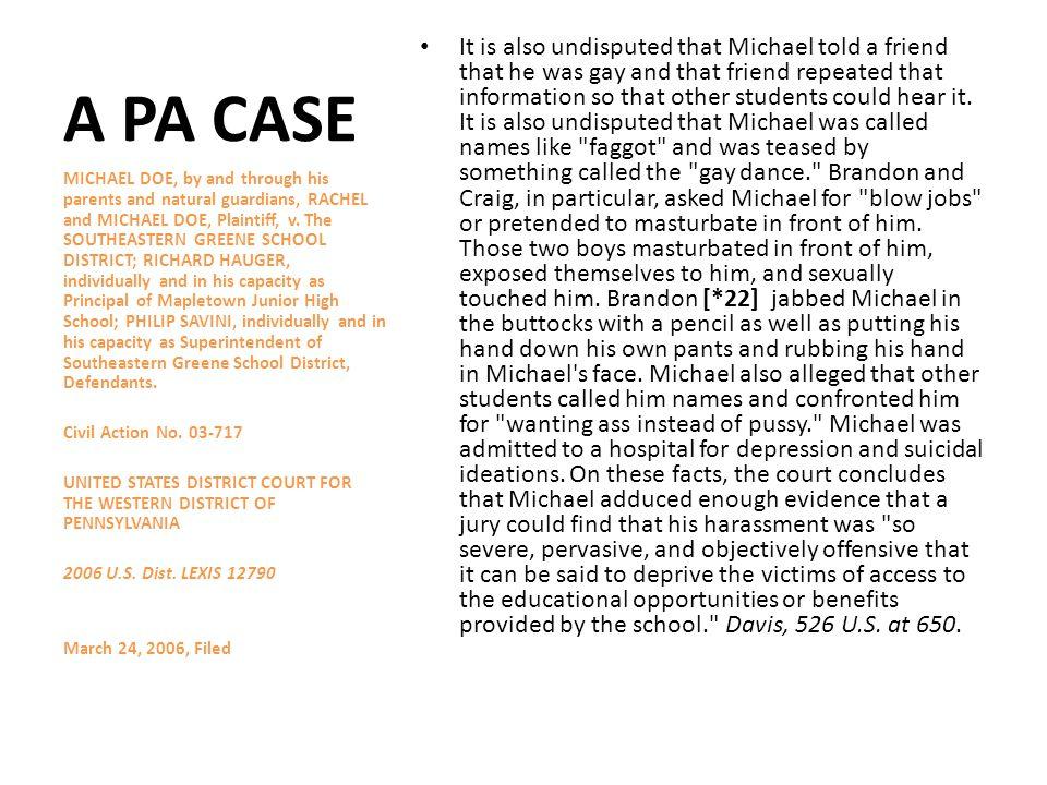 A PA CASE