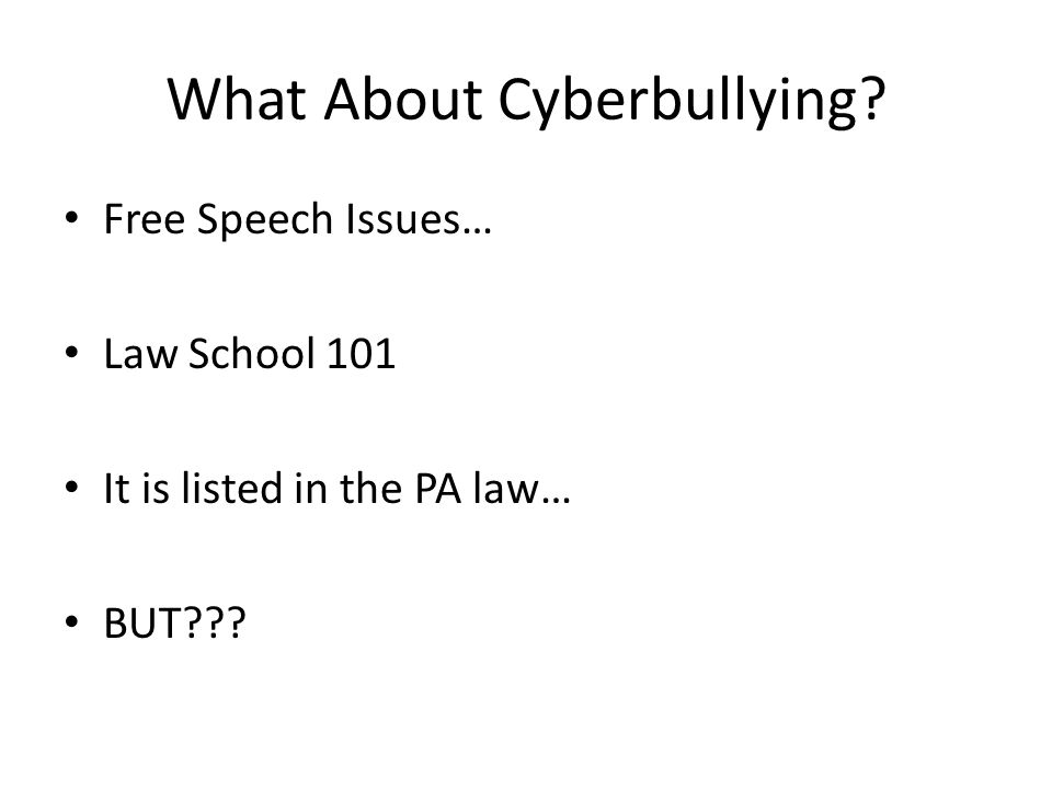 What About Cyberbullying