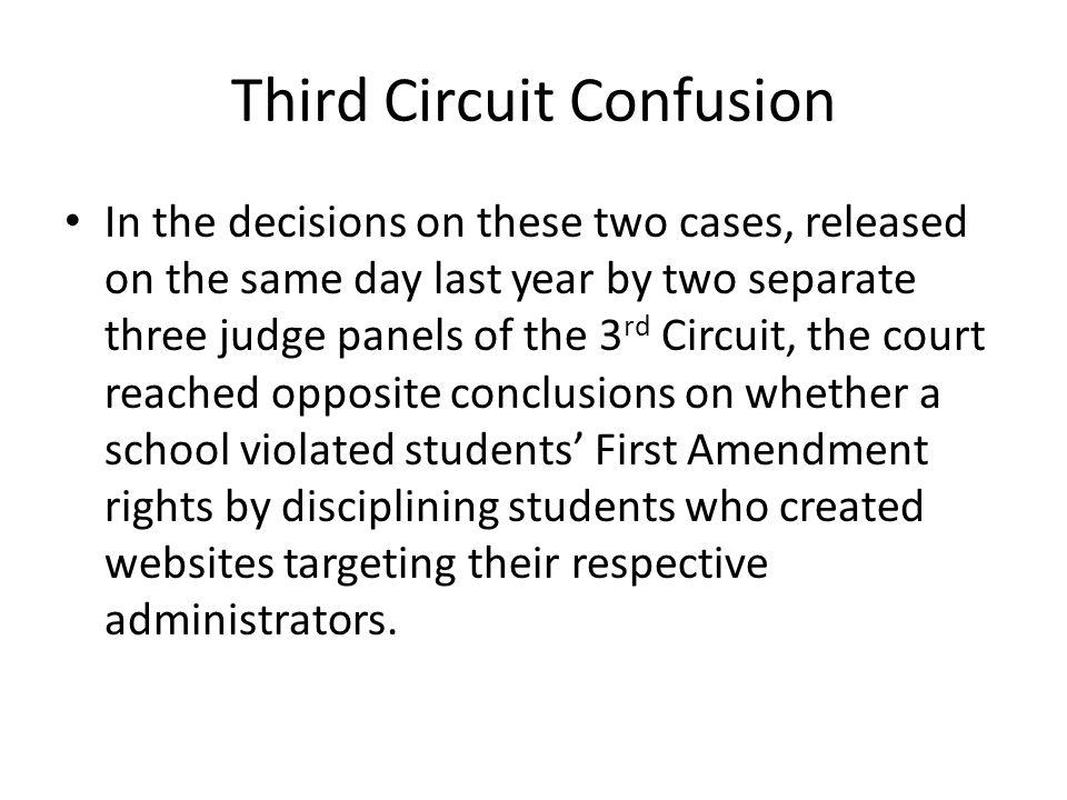 Third Circuit Confusion