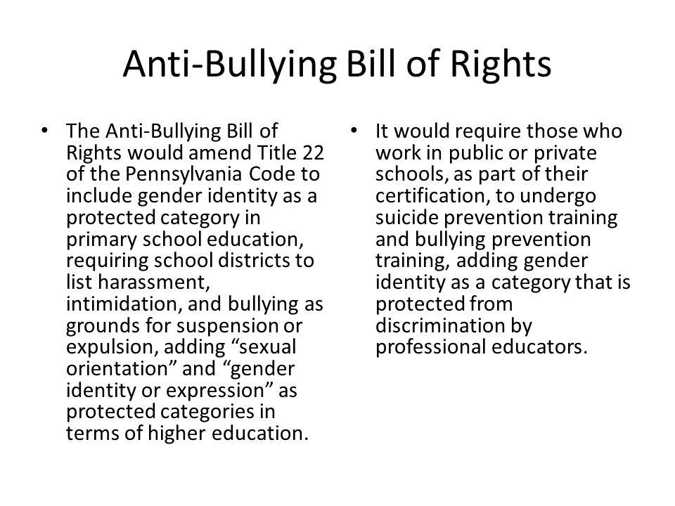 Anti-Bullying Bill of Rights