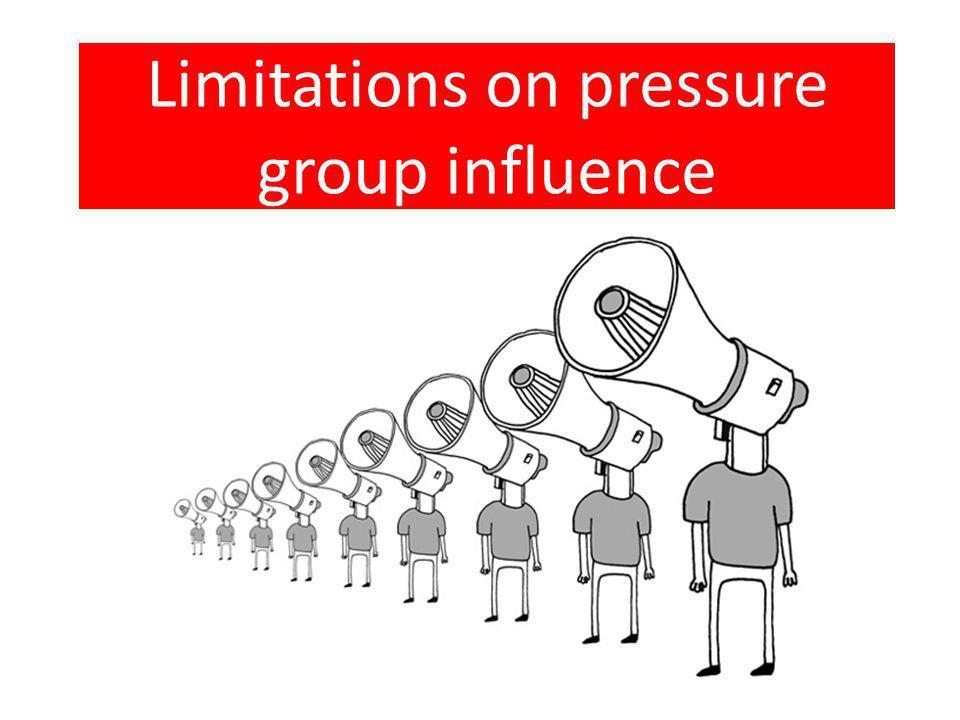 Limitations on pressure group influence