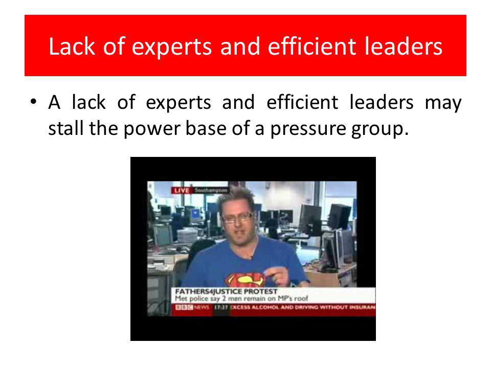 Lack of experts and efficient leaders