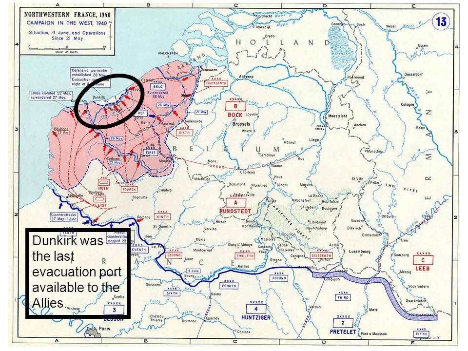 Dunkirk was the last evacuation port available to the Allies.