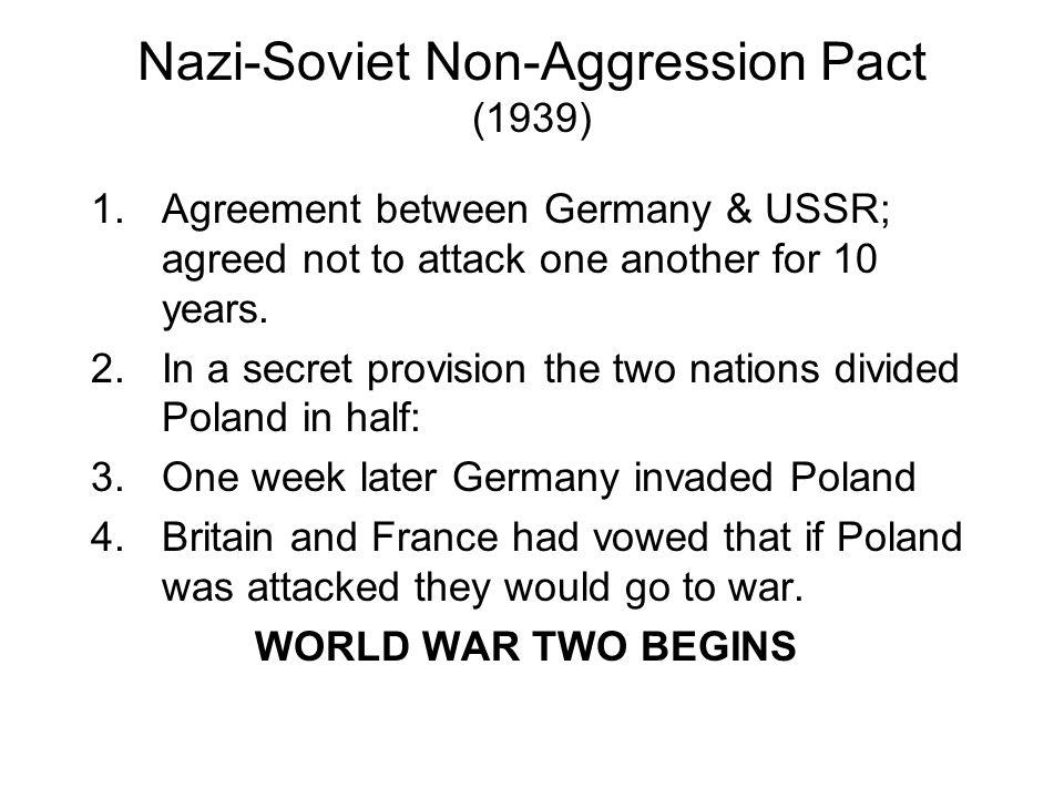 Nazi-Soviet Non-Aggression Pact (1939)