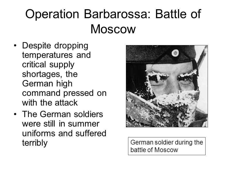 Operation Barbarossa: Battle of Moscow