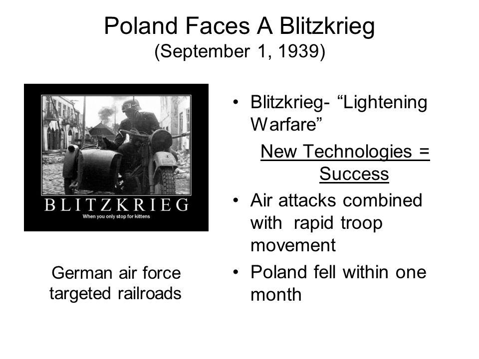 Poland Faces A Blitzkrieg (September 1, 1939)