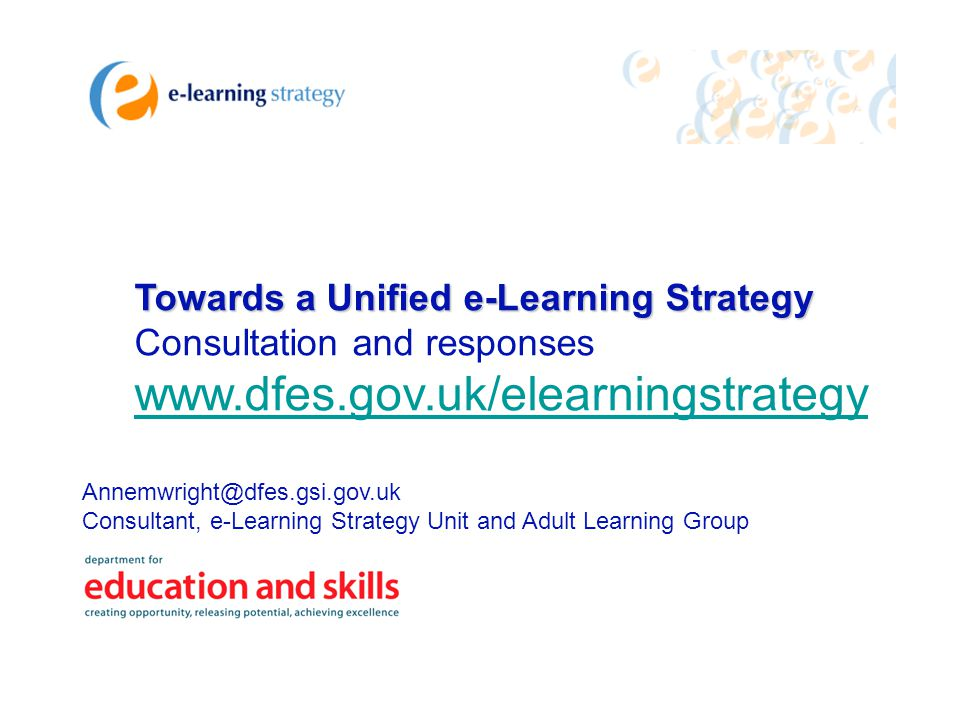 Towards a Unified e-Learning Strategy