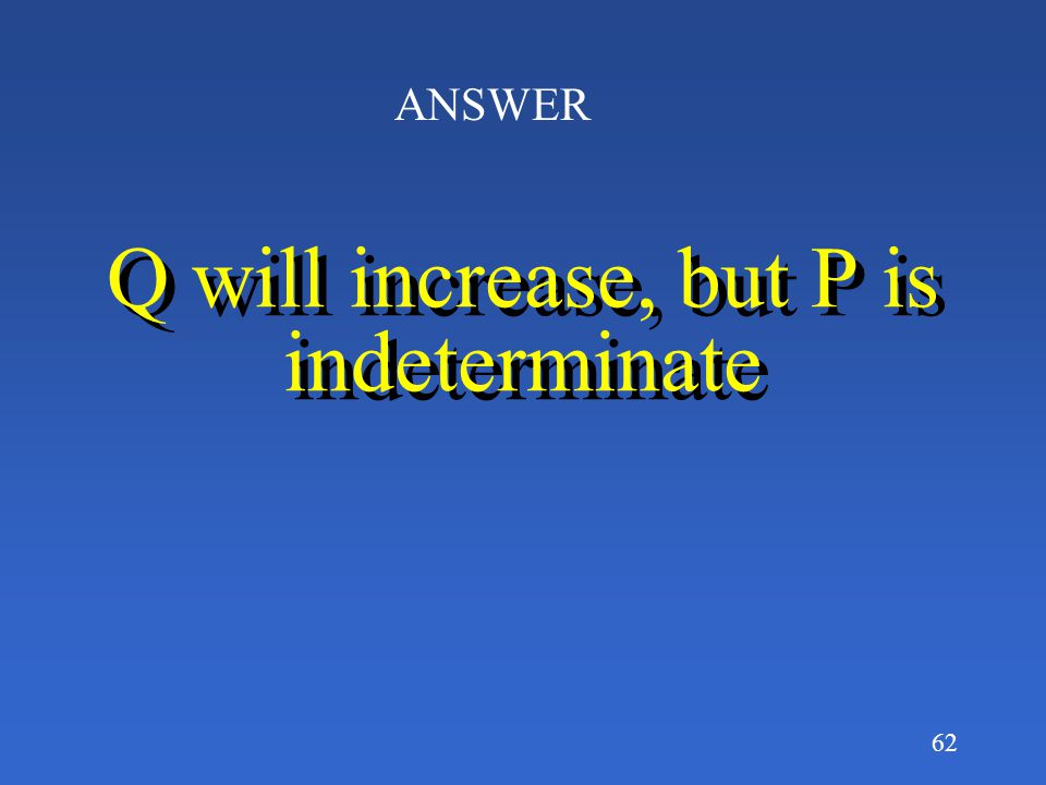 Q will increase, but P is indeterminate