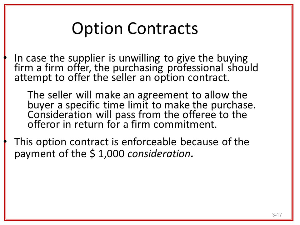 Option Contracts
