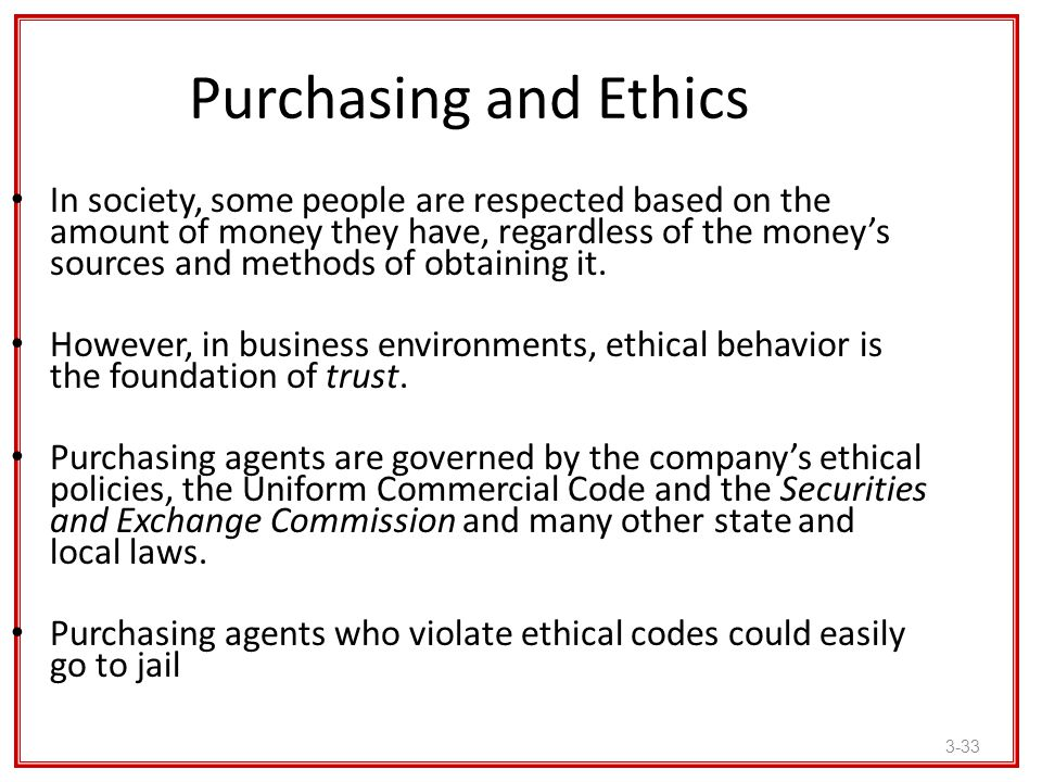 Purchasing and Ethics