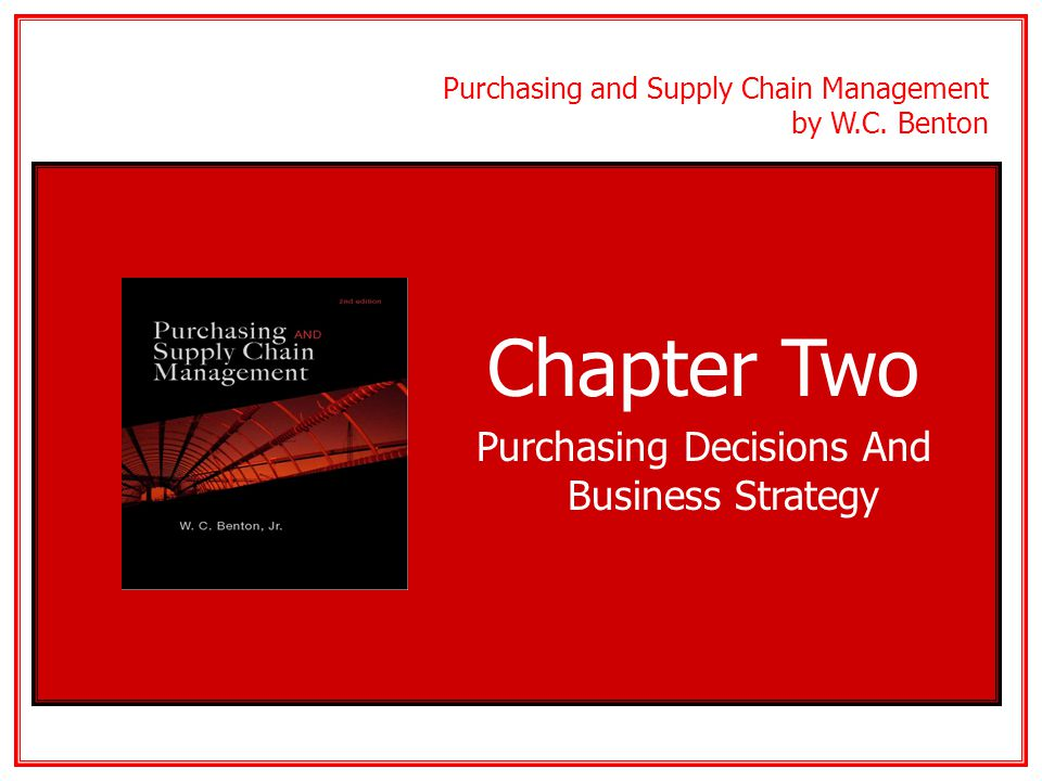 Purchasing Decisions And Business Strategy