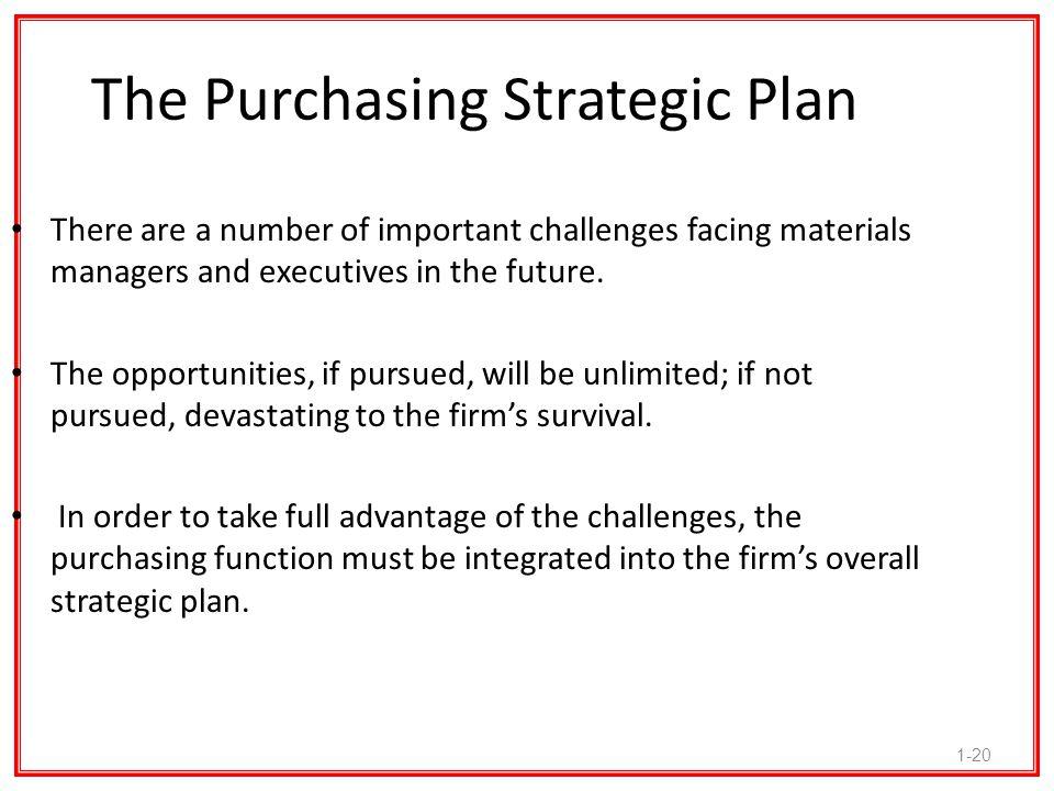 The Purchasing Strategic Plan