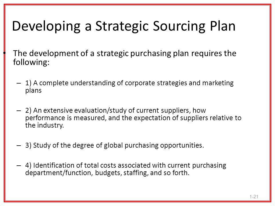 Developing a Strategic Sourcing Plan