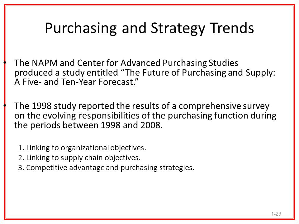 Purchasing and Strategy Trends