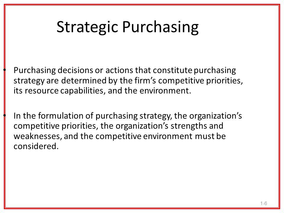 Strategic Purchasing