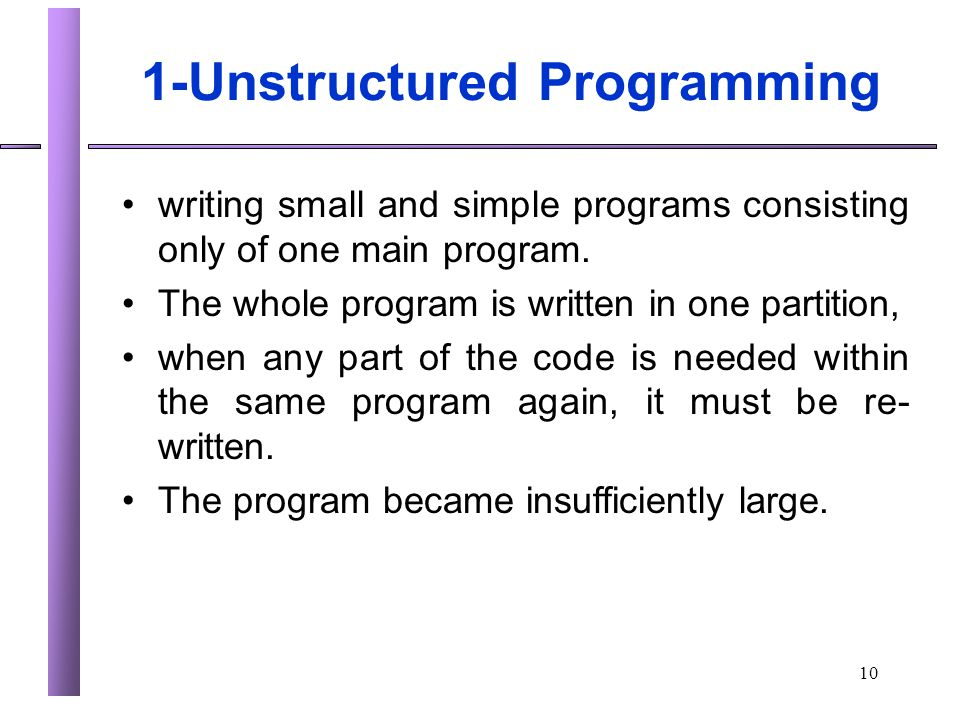 1-Unstructured Programming